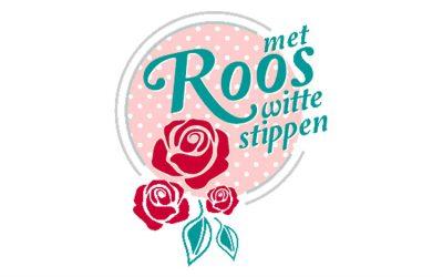 Roos met witte stippen